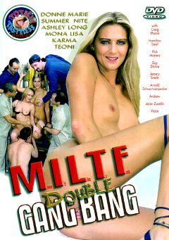 "Adult entertainment movie ""MILTF Double Gang Bang"" starring Ashley Long, Victor & Andrew. Produced by Totally Tasteless Video."