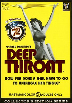 Deep Throat, starring Linda Lovelace, Bill Harrison, Bob Phillips, William Love, Ted Street, John Byron, Dolly Sharp, Gerard Damiano, Jack Birch, Carol Connors and Harry Reems, produced by Arrow Productions.
