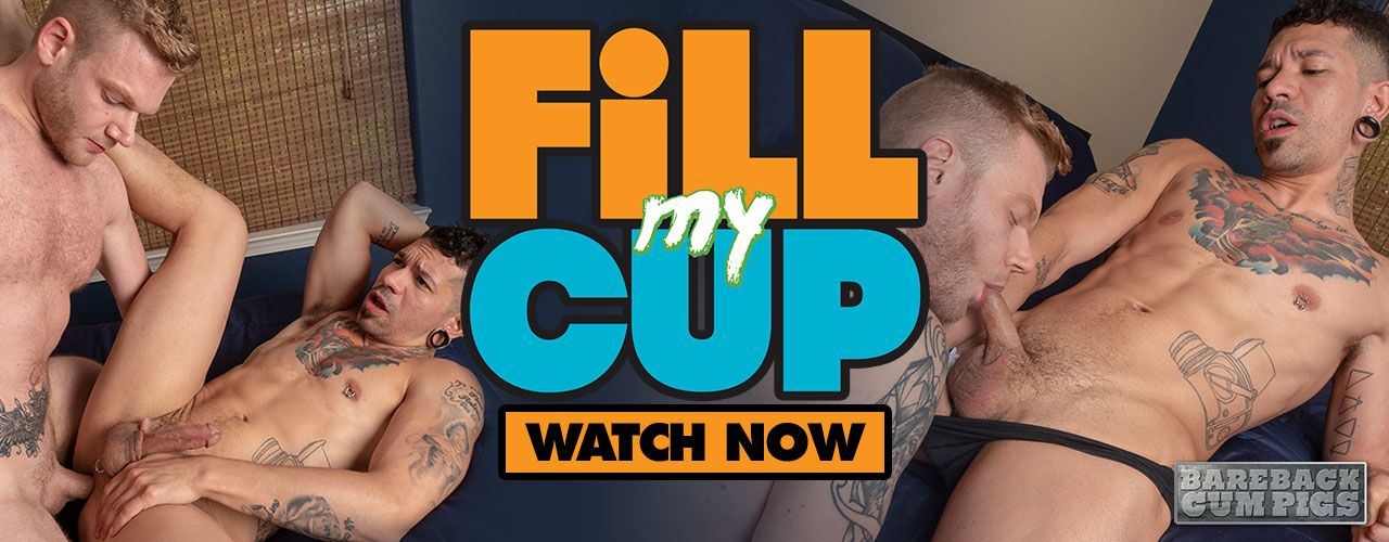You're invited to one of the hottest bareback sex pool parties of the summer! Check out Fill My Cup from Bareback Cum Pigs right now!