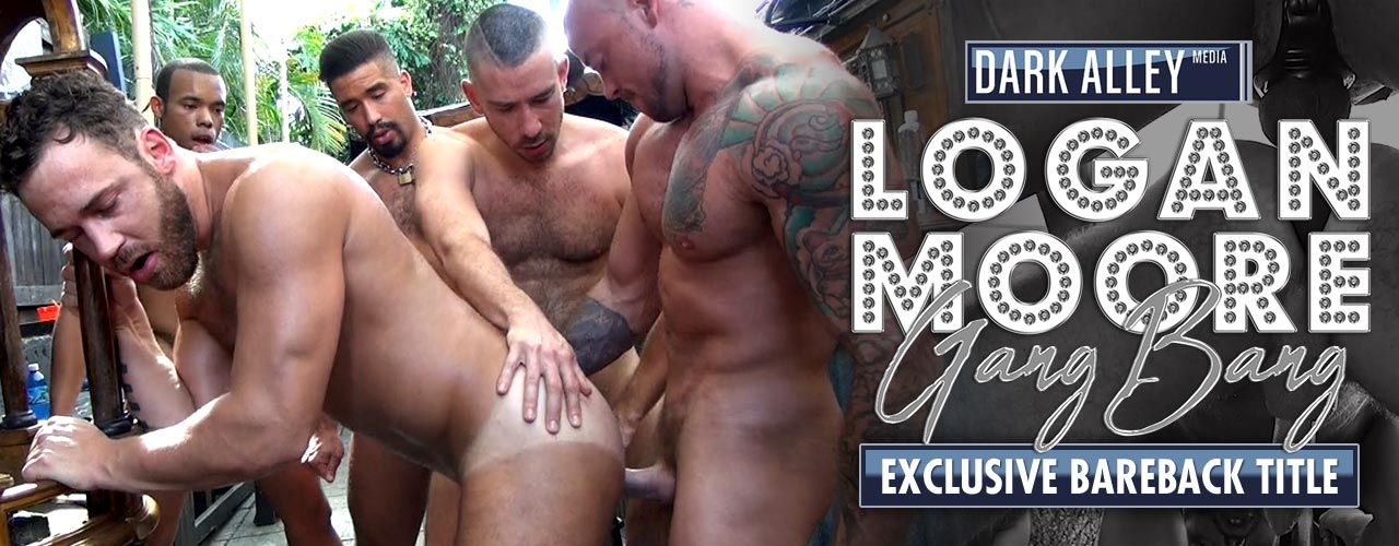 Slutty muscle stud Logan Moore stumbles into the infamous Ramrod Bar looking for dick and finds more than he bargained for! Check out Logan Moore Gang Bang