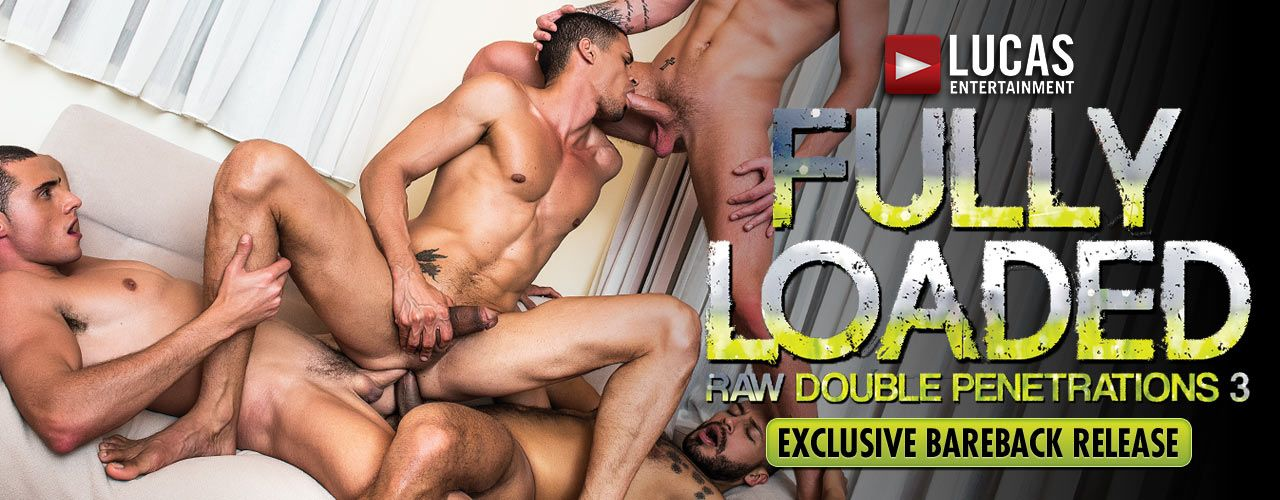"Lucas Entertainment's sex-crazed men are ""Fully Loaded"" in the third installment of ""Raw Double Penetrations""! Watch it now!"