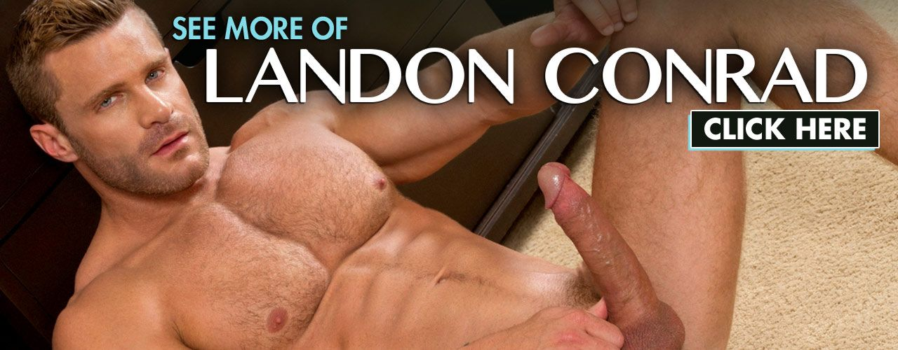 Landon Conrad is a Falcon Studios performer with rock-hard abs (decorated with a small tattoo) and chiseled good looks. Check him out here!