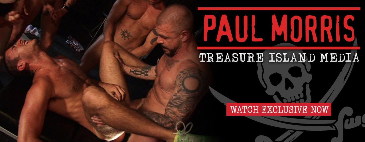 Paul Morris of Treasure Island Media stays in touch with what's going on in gay sex today by creating raw, unique cock sucking and gang bang titles!