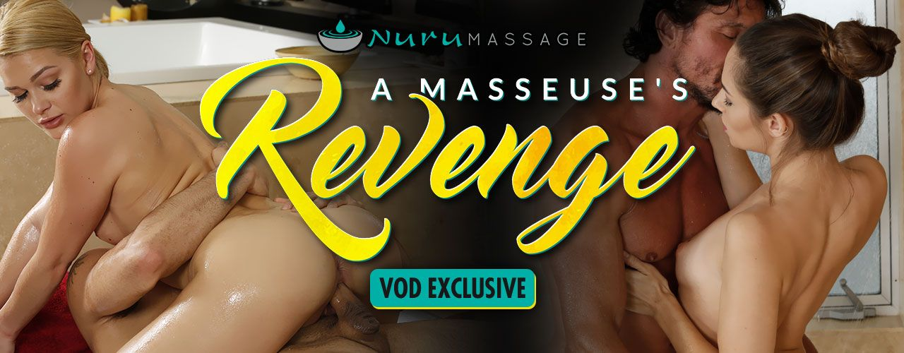 A hot rub down is all you need to relax! Nuru Massage presents A Masseuse's Revenge! Watch it now.
