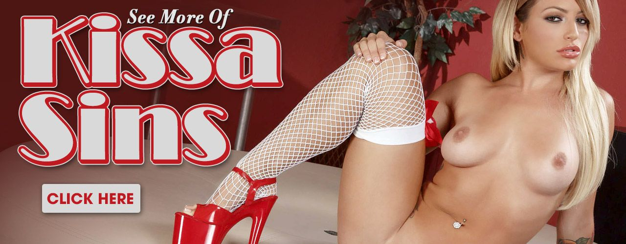 Busty Blonder Kissa Sins is curvy goodness to the core! See all her movies here!