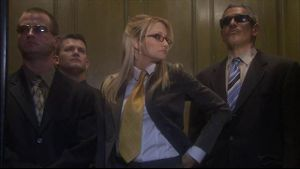 Bad Blonde in the Office Elevator.