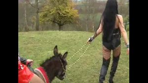 Carmen Rivera Uses a Donkey to Torment a Slave.