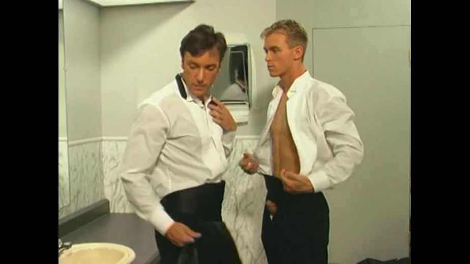 Men's Room at the Wedding Reception, starring Peter Wilder, produced by Atomic Video and Studio 2000. Video Categories: Muscles and Blowjob.