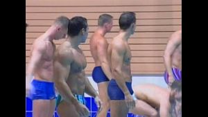 European Swim Team Training.