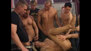 Locker Room Jocks Gangbang Pig.