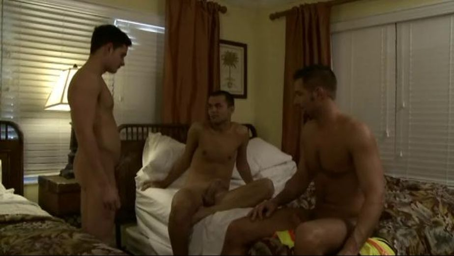 The Butt Fuck Inspiration, starring Andrew Justice, Richie Sabatini and Felix Andrews, produced by Gage Media. Video Categories: Safe Sex and Anal.