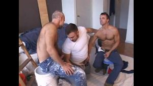 The Plumber Interrupts the Workmen.