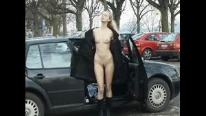 Lenka Flashing Her Nakedness in Public.