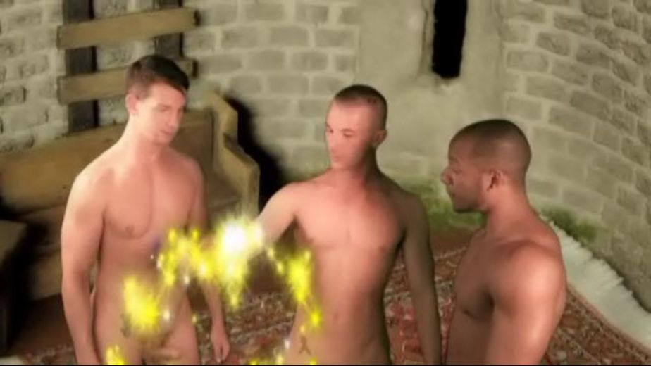 Whorrey Potter's Magic Triangle of Suck, starring Eddie Diaz, Cameron Adams and Luke Marcum, produced by Dominic Ford. Video Categories: College Guys, Blowjob, Muscles and Threeway.