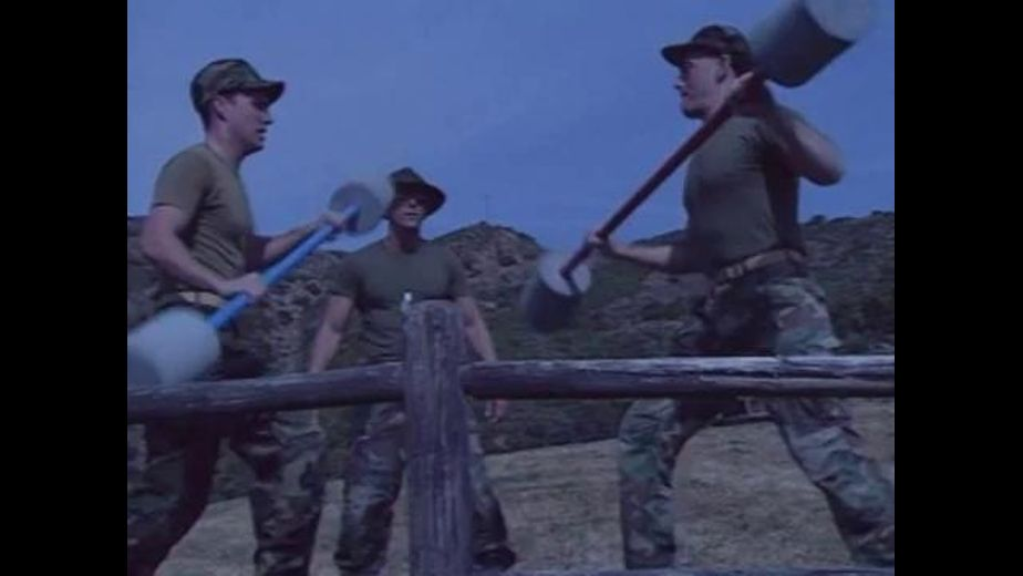 Marine Sergeant Knocked Silly With Pugil Sticks, starring Mike Nichols and Chris Rock, produced by Centaur Films. Video Categories: Blowjob, Muscles and Military.