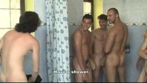 Water Is Fine in Gangbang Shower.