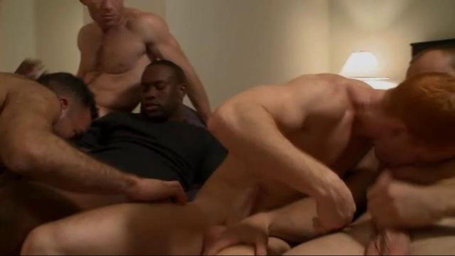 The Pace Picks Up at the  Gay Porn Party, starring Brandon Aguilar, Blu Kennedy, Jay Scorpio, James Hawke, Bryan Slater, Trae Angle and Les Hendrix, produced by Gage Media and Dragon Media. Video Categories: Blowjob, Masturbation, Bear, Muscles, Euro, Orgies and Interracial.