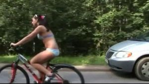 Creepy Commie Stalks and Hunts Bicycle Girls.