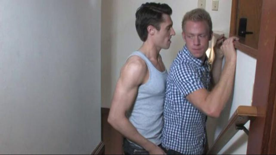 Spies in the House of Cocks, starring Landon Conrad, Christopher Daniels, Andrew Jakk and Adrian Long, produced by Jocks, Falcon Studios Group and Falcon Studios. Video Categories: Muscles and Blowjob.