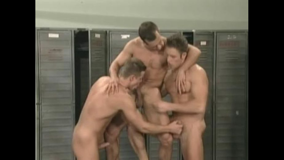 Gymnasts' Threeway in the Locker Room, starring George Vidanov, Janos Volt and Michael Constanzo, produced by Diamond Pictures. Video Categories: Uncut, Blowjob, Masturbation, Muscles, Threeway, Euro, Safe Sex and Jocks.
