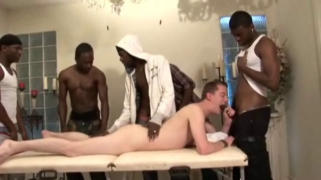 Interracial men banging