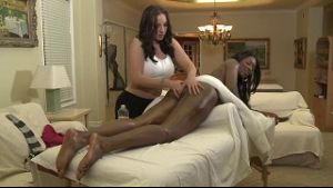 Massage Leads to Interracial Lesbian Sex.