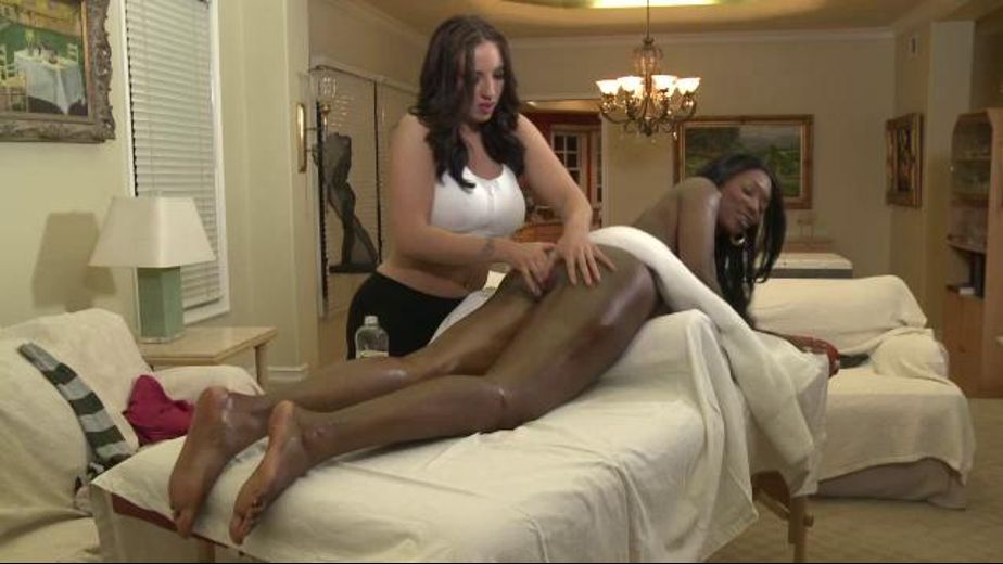 Massage Leads to Interracial Lesbian Sex, starring Nyomi Banxxx and Kelly Divine, produced by Girlfriends Films. Video Categories: Interracial, Lesbian, Black and Brunettes.