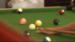 Game of Pool Turns Into Hot Coupling.