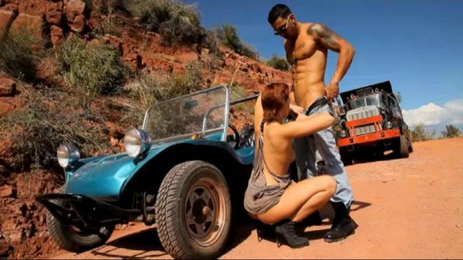 Dirt Road Arizona Redhead Fantasy, starring Jamey Janes, produced by Daring Media. Video Categories: Blowjob and Redheads.