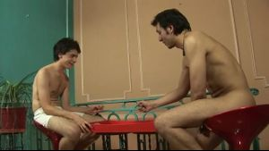 Dad and Twink Rolling Dice and Stripping.