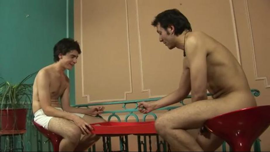 Dad and Twink Rolling Dice and Stripping, starring Sergei and Marvin, produced by SBS Productions. Video Categories: Blowjob, Mature and College Guys.