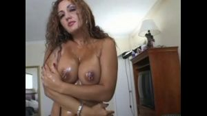 Oil Up the Sexy Latina MILF.