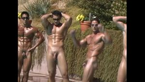 All the Oiled Up Studs in Formation.