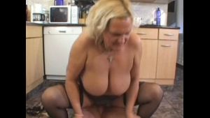 Hairy Granny Takes A Hard Cock.
