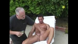 Muscular Marco From Italy Gets a Rubdown.