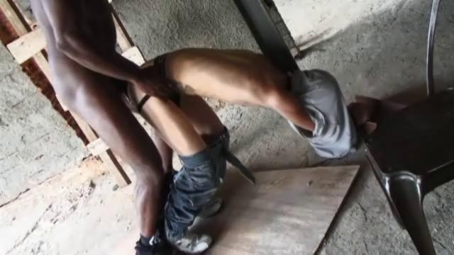 Twink Bondaged By Black