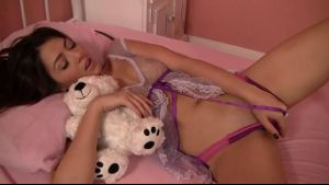 Beauty Gets Caught Masturbating With Teddy Bear.