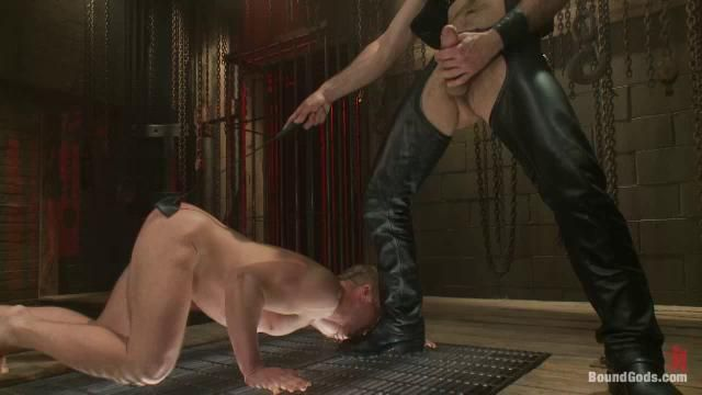 Ethan Hudson Licks The Boots Clean
