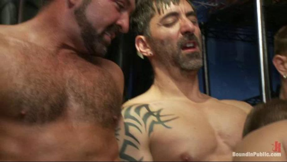 A Store Full Of Boots And Cocks, starring Josh West and Gabriel Steele, produced by KinkMen. Video Categories: GangBang, Leather, Anal, BDSM, Safe Sex and Fetish.