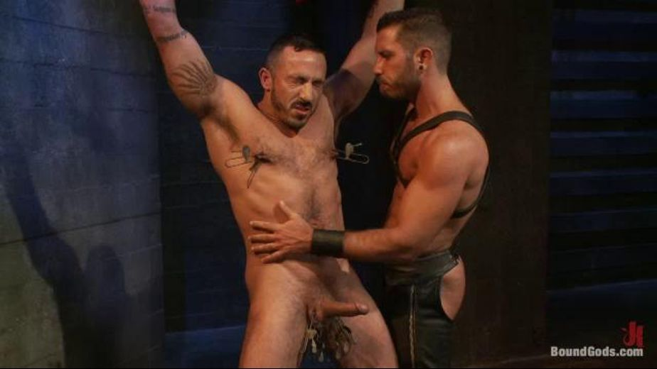 Sex Torture for the Rennaissance Man, starring Alessio Romero and Damien Stone, produced by KinkMen. Video Categories: Muscles, Fetish, BDSM, Leather, Pigs and Blowjob.