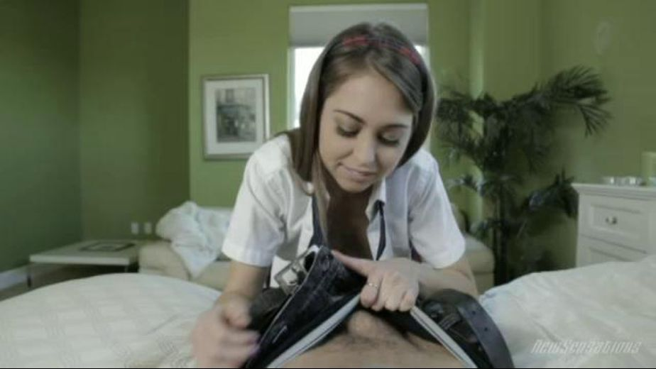 Good Morning Little Schoolgirl, starring Riley Reid, produced by New Sensations. Video Categories: Gonzo, Small Tits, Fetish, College Girls and Blowjob.