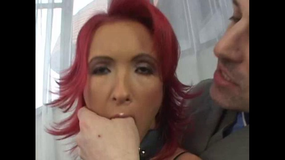 Redhead in a Dog Collar and See-Through Fishnet, starring Angela Winter, produced by Double Team Studios. Video Categories: Fetish, Anal, Blowjob, BDSM, Natural Breasts, Threeway, Small Tits and Redheads.