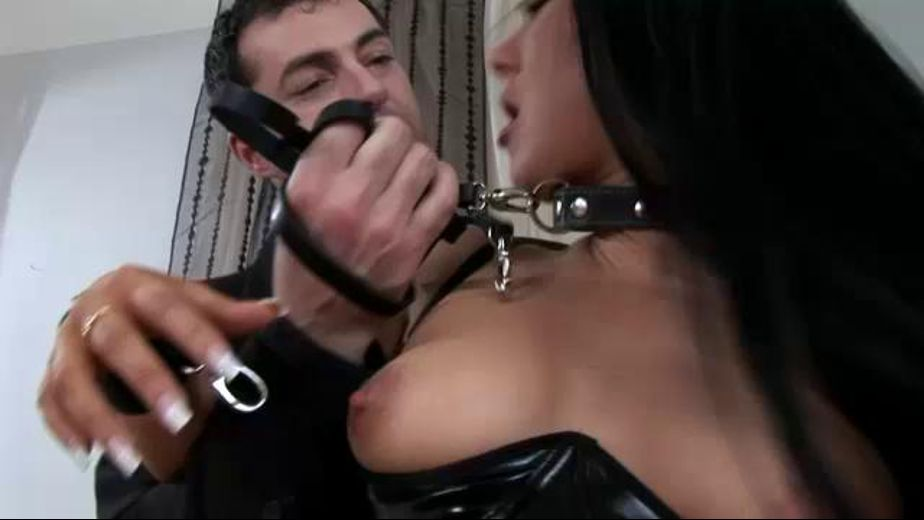 The Man in the Black Suit Controls the Slave Girl, starring James Brossman and Valentina Velasquez, produced by Bizarre Video Productions. Video Categories: BDSM, Fetish, Natural Breasts and Brunettes.