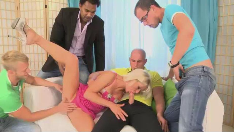 Suck Four Cocks to Learn to Speak, starring Kathy Anderson and Franco Roccaforte, produced by Pink Visual. Video Categories: Anal, GangBang and Natural Breasts.