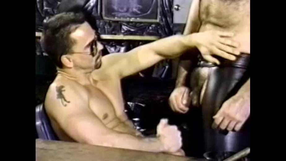 Cops Wear Black Leather Pants and Shades, starring Clay Russell and Trenton Comeaux, produced by BiCoastal. Video Categories: Masturbation, Uncut, Fetish, Bear, Leather, Muscles and Blowjob.
