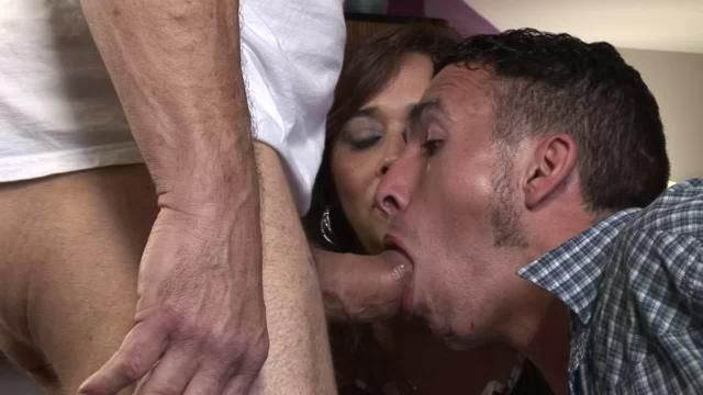 Husband sucking dick for wife