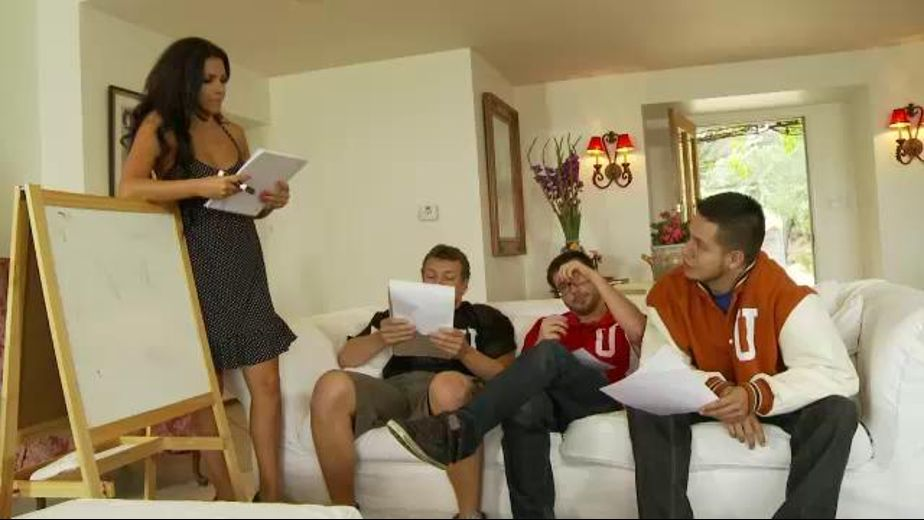 Math Tutor Muitiplies 3 times 1 With Students, starring Dane Cross, David Loso, Danica Dillan and Jerry Kovacs, produced by Devil's Film and Devils Film. Video Categories: GangBang, Big Tits, Brunettes and MILF.