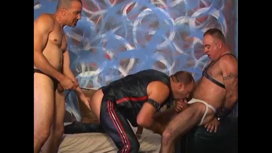 Three Leather Ass Fuckers, starring Austin Black, Hank Cruz and Bud Allen, produced by ZyloCo. Video Categories: Mature, Bareback, Leather, Anal, Fetish and Bear.