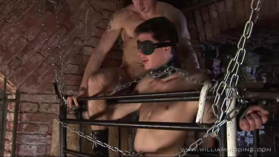 Bound and Blind in a Cage, starring Daniel Sebesta and Cecil Stok, produced by William Higgins. Video Categories: Fetish, BDSM, Euro and Safe Sex.
