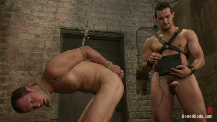 A Shocking Time in the Dungeon, starring Kyle Quinn and Phenix Saint, produced by KinkMen. Video Categories: Anal, Fetish, BDSM and Safe Sex.